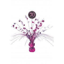 Tafel deco Sparkling pink 70