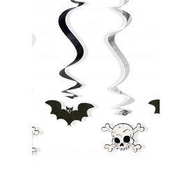 Decoratie swirls vleermuis/skelet 5