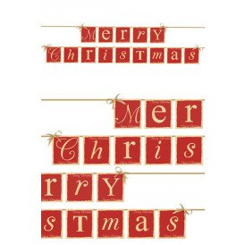 Vlaggenlijn Merry Christmas 220 cm.