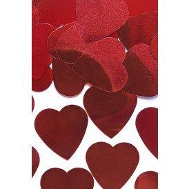 Confetti zakje 10 gr. hartjes rood