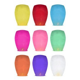 Wensballon assorti kleuren 33 x 48 x 86 cm.