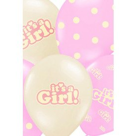 Ballonnen mix pastel wit/roze It's a girl