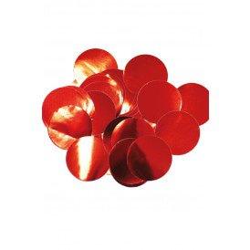 Confetti rood 14 gram metaalfolie