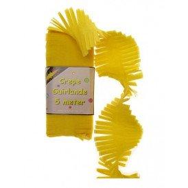Crepe guirlande geel 5m