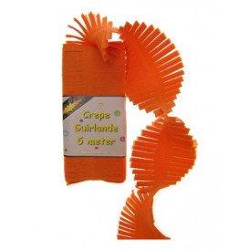 Crepe guirlande oranje 5m