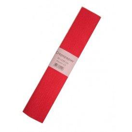 Crepe papier rood 250x50cm