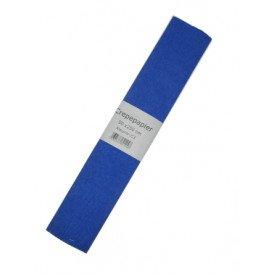 Crepe papier  blauw 250x50cm
