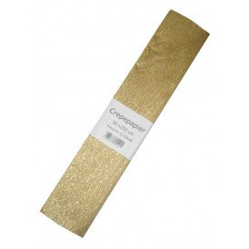 Crepe papier goud 250x50cm