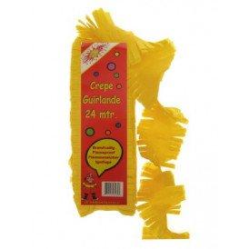 Crepe guirlande brandveilig geel 24 mtr.