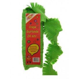 Crepe guirlande brandveilig groen 24 mtr.