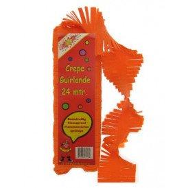 Crepe guirlande brandveilig oranje 24m
