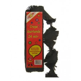 Crepe guirlande brandveilig zwart 24m