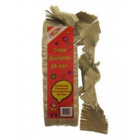 Crepe guirlande goud brandveilig 24m