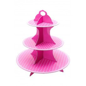 Etagere Cupcake roze karton