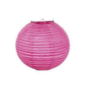 Lampion papier pink met draadstalen frame 25 cm