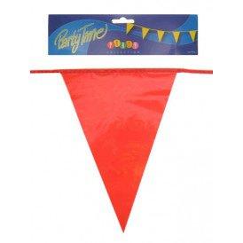 Vlaggenlijn pe rood 10m