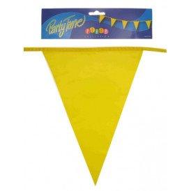 Vlaggenlijn  pe geel 10m