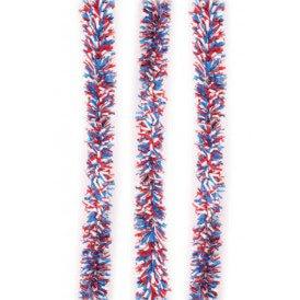 P.V.C. slinger brandvertragend rood/wit/blauw 10m