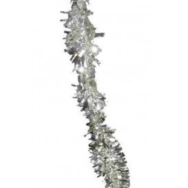 P.V.C. slinger brandvertragend zilver 4m