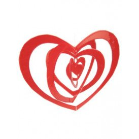 Hangmobiel rood harten 43cm