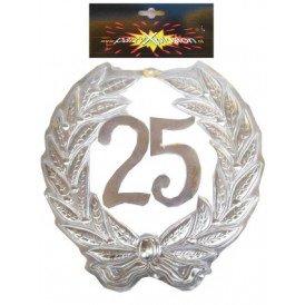 Jubileumkrans 25 jaar plastic 40cm