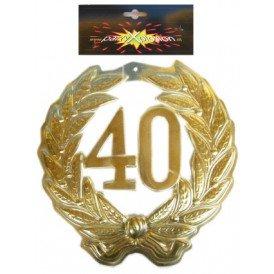 Jubileumkrans 40 jaar plastic 40cm