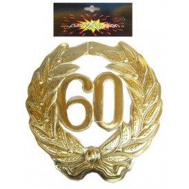 Jubileumkrans 60 jaar plastic 40cm
