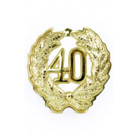 Jubileumkrans 40 jaar plastic 24 cm.