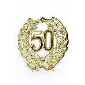 Jubileumkrans 50 jaar plastic 24 cm.