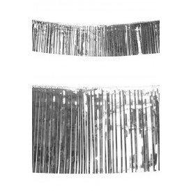 Franje slinger metallic zilver 10 meter brandvertragend