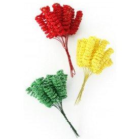 Deco Spiraal rood/geel/groen op draad 144 st