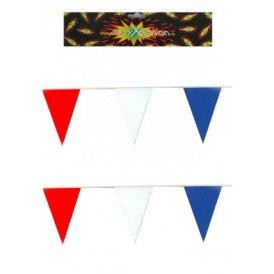 Vlaggenlijn rood/wit/blauw pe 10 mtr