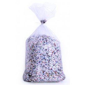 Confetti kantig bont 5 kg  B-kwaliteit