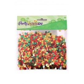 Confetti metallic 100 gram bonte kleuren