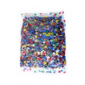 Confetti kantig bont 100 zakjes 100gr  A-kwaliteit