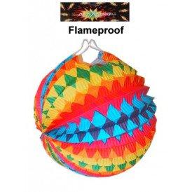Lampion regenboog assortie 22 cm.