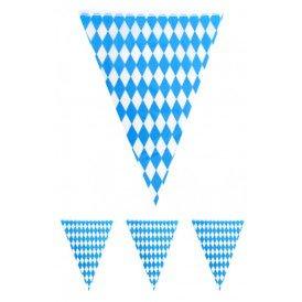 Vlaggenlijn Oktoberfest blauw/wit 10 mtr
