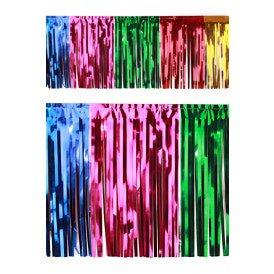 PVC slierten folie guirlande multicolour 6 meter x 30 cm