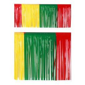 PVC slierten folie guirlande rood/geel/groen 6 meter x 30 cm BRANDVEILIG