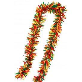 PVC folie draai guirlande rood/geel/groen 10 meter BRANDVEILIG