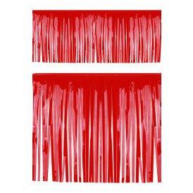 PVC slierten folie guirlande rood 6 meter x 30 cm BRANDVEILIG