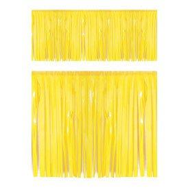 PVC slierten folie guirlande geel 6 meter x 30 cm BRANDVEILIG