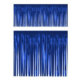 PVC slierten folie guirlande blauw 6 meter x 30 cm BRANDVEILIG