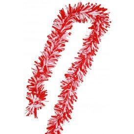 PVC folie draai guirlande rood/wit 5 meter BRANDVEILIG