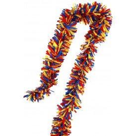 PVC folie draai guirlande rood/geel/blauw 5 meter BRANDVEILIG