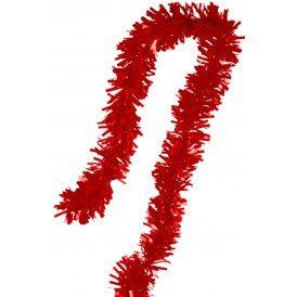 PVC folie draai guirlande rood 5 meter BRANDVEILIG