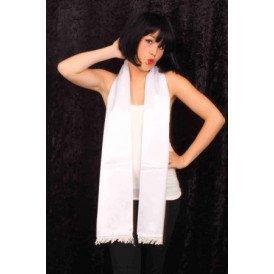 Sjaal wit 180 x 17 cm.
