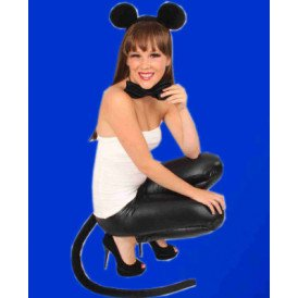 Muizenset zwart 3-delig