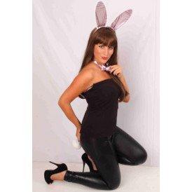 Bunny set rose glansstof