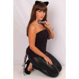 Kattenset zwart/zilver 3-delig